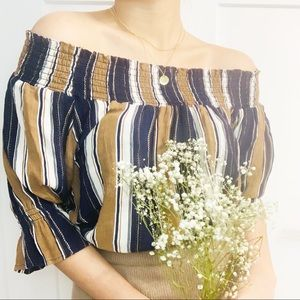 NWOT - Sheer off-shoulder blouse